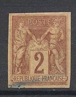 Colonies Générales - 1878 - N°Yv. 38 - Sage 2c Lilas-brun - Oblitéré / Used - Sage