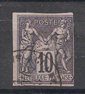 Colonies Générales - 1878 - N°Yv. 40 - Sage 10c Noir Sur Lilas - Oblitéré / Used - Sage