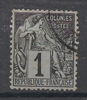 Colonies Générales - 1881 - N°Yv. 46 - Alphée Dubois 1c Noir - Oblitéré / Used - Alphée Dubois