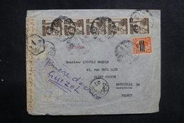 EGYPTE - Enveloppe De Giza Pour La France Avec Contrôle Postal, Affranchissement Plaisant - L 40888 - Briefe U. Dokumente