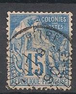 Colonies Générales - 1881 - N°Yv. 51 - Alphée Dubois 15c Bleu - Oblitéré / Used - Alphée Dubois