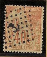 Colonies Générales - 1881 - N°Yv. 57 - Alphée Dubois 40c Rouge-orange - Oblitéré / Used - Alphée Dubois