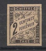 Colonies Générales - 1884 - Taxe TT N°Yv. 2 - 2c Noir - Neuf * / MH VF - Portomarken