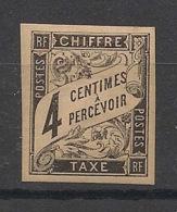 Colonies Générales - 1884 - Taxe TT N°Yv. 4 - 4c Noir - Neuf * / MH - Portomarken
