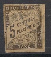 Colonies Générales - 1884 - Taxe TT N°Yv. 5 - 5c Noir - Oblitéré / Used - Taxes