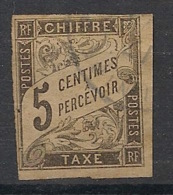 Colonies Générales - 1884 - Taxe TT N°Yv. 5 - 5c Noir - Oblitéré / Used - Portomarken