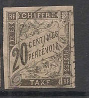 Colonies Générales - 1884 - Taxe TT N°Yv. 8 - 20c Noir - Oblitéré / Used - Postage Due