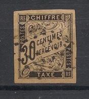 Colonies Générales - 1884 - Taxe TT N°Yv. 9 - 30c Noir - Oblitéré / Used - Postage Due
