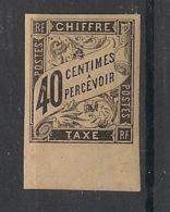 Colonies Générales - 1884 - Taxe TT N°Yv. 10 - 40c Noir - Neuf * / MH VF - Portomarken