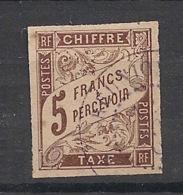 Colonies Générales - 1884 - Taxe TT N°Yv. 17 - 5f Marron - Oblitéré / Used - Postage Due