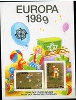 BELGIQUE FEUILLET DE LUXE LX78 EUROPA 1989 JEUX D'ENFANTS   (numéro COB) - Europa-CEPT