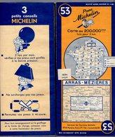 Carte Géographique MICHELIN - N° 053 ARRAS - MÉZIÈRES 1949 - Cartes Routières
