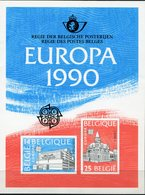 BELGIQUE FEUILLET DE LUXE LX79 EUROPA 1990 BUREAUX DE POSTE   (numéro COB) - Europa-CEPT