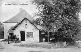 CPA De SANTANS (Jura) - La Forge. Edition Karrer (?). Bistre. Circulée En 1923. Bon état. - Autres Communes