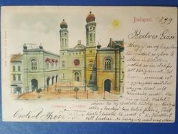 Judaica Jewish Synagogue Budapest Hungary W.color 1899 Judaika - Jewish