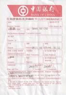 CHINA - BANK OF CHINA - CUSTUMER ADVICE - Facturas & Documentos Mercantiles