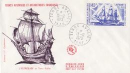 Terre Adélie 13/12/73 PA 31 Premier Jour Sur FDC (l'Astrolabe) - Französische Süd- Und Antarktisgebiete (TAAF)