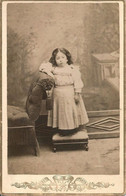 Cabinet Photo 1890' - Cute GIRL FILLE In Nice Dress - Fotos
