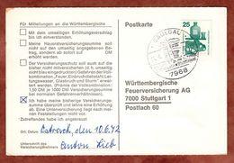 Karte, Unfallverhuetung, SoSt Saulgau Baechtlefest, Nach Stuttgart 1972 (78153) - [7] République Fédérale
