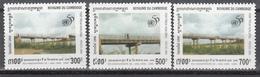 1995  Yvert Nº 1284 / 1286   MNH,  ONU (Naciones Unidas), Puente De Preah Kunlorng - Cambodja