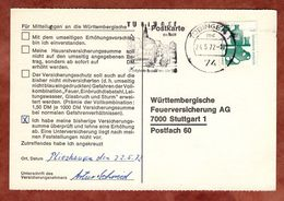 Karte, Unfallverhuetung, MS Tuebingen, Nach Stuttgart 1972 (78155) - [7] République Fédérale