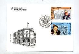 Lettre Fdc 1982 Europa - Isola Di Man