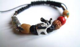 Bracelet éléphant, Porte-bonheur, éléphanteau, Pâte De Verre, Labradorite Naturelle, Pierre Naturelle, Bijou Original, A - Bracelets