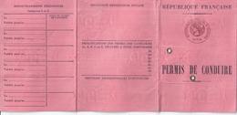 PERMIS DE CONDUIRE -R.F. PARIS   20e -1969 - Non Classificati