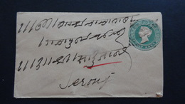 India - 1889 - Half Anna O - SIRONJ 29.12.89 - Postal Stationery - Look Scans - Briefe
