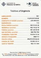 CALENDARIO - CALENDAR - AJUNTAMENT VILANOVA I LA GELTRU 2012 - Tamaño Pequeño : 2001-...
