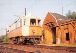 """09484 """"FERROVIA RENON - DEPOSITO DI COLLALBO - MOTRICE 11 - 1986""""   CART NON SPED - Treni"""