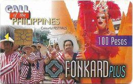 Philippines - PLDT (Chip) - Colourful Festivals - Exp.30.07.1999, Chip GEM2 Red, 100₱, Used - Filippine