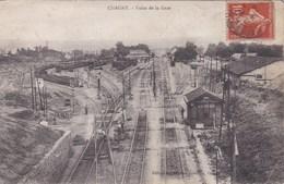 Cpa CHAGNY VOIES DE LA GARE 1916 - Gares - Avec Trains