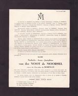LONDRES 1945 Nathalie Van Der NOOT De MOORSEL Veuve De BORMAN 1874-1945 Famille De SCHAETZEN  ROBYNS - Décès