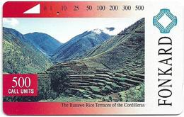 Philippines - PLDT (Tamura) - The Banawe Rices Terraces - 500Units, 1993, Used - Filippijnen
