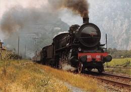 """09487 """"FFS LINEA CHIVASSO/AOSTA - I CENTENARIO SERVIZIO FERROV. AD AOSTA - LOCOMOTIVA GR.685.196 - 1986""""   CART NON SPED - Treni"""