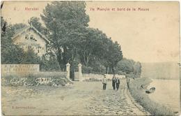 HERSTAL   ILE MONSIN  ET BORD DE LA MEUSE ( CHALET DE MAREXHE  ) ECRITE 1911 - Herstal