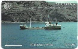 St. Helena - Ship Bosum Bird, 5CSHD, 2.000ex, Used - Sainte-Hélène