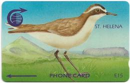 St. Helena - Fauna & Flora Wirebird - 3CSHC - 2.000ex, Used - Sainte-Hélène