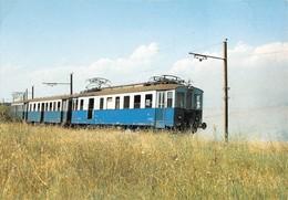 "09492 ""SRFN - LINEA ROMA/VITERBO - ELETTROMOTRICE - 1986""  CART NON SPED - Treni"