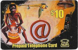Suriname - Telesur - Drummer, Prepaid 10$, Used - Suriname