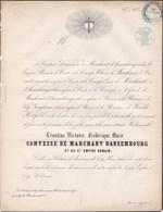 AMSTENRAEDT Léontine Comtesse De MARCHANT D'ANSEMBOURG 44 Ans 1855 Pays-Bas WENDT-HOLFELD - Décès