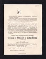 AMSTENRAEDT Eugénie Comtesse De MARCHANT Et D'ANSEMBOURG Née De SILVA Berlin 1858 - AMSTENRAEDT 1913 - Décès
