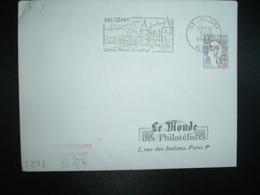 LETTRE TP M. DE COCTEAU 0,20 OBL.MEC.5-12 1966 03 JALIGNY ALLIER Calme Pêche Camping + CHATEAU - Marcophilie (Lettres)