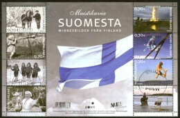 Finland Sc# 1297 Used Miniature Sheet 2007 Independence 90th - Finland