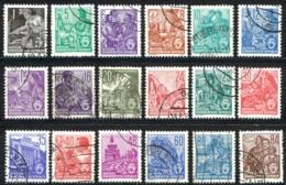 German Democratic Republic Sc# 187-204 Used 1953-1954 Definitives - [6] Democratic Republic
