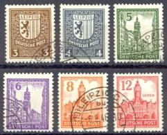 German Democratic Republic West Saxony Sc# 14N15-14N20 Used 1946 West Saxony - Soviet Zone