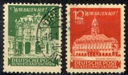German Democratic Republic East Saxony Sc# 15NB1-15NB2 Used 1946 East Saxony - Soviet Zone
