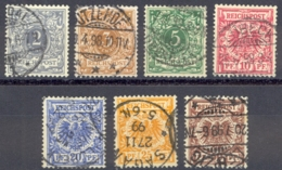 Germany Sc# 45-51 Used 1899-1890 Definitives - Used Stamps