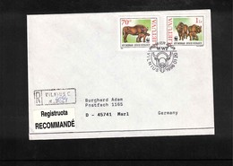 Lithuania 1996 WWF Interesting Registered Cover FDC - W.W.F.